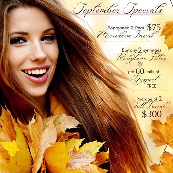 Premier Aesthetics September Specials